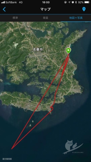 GARMINのサーフィン記録