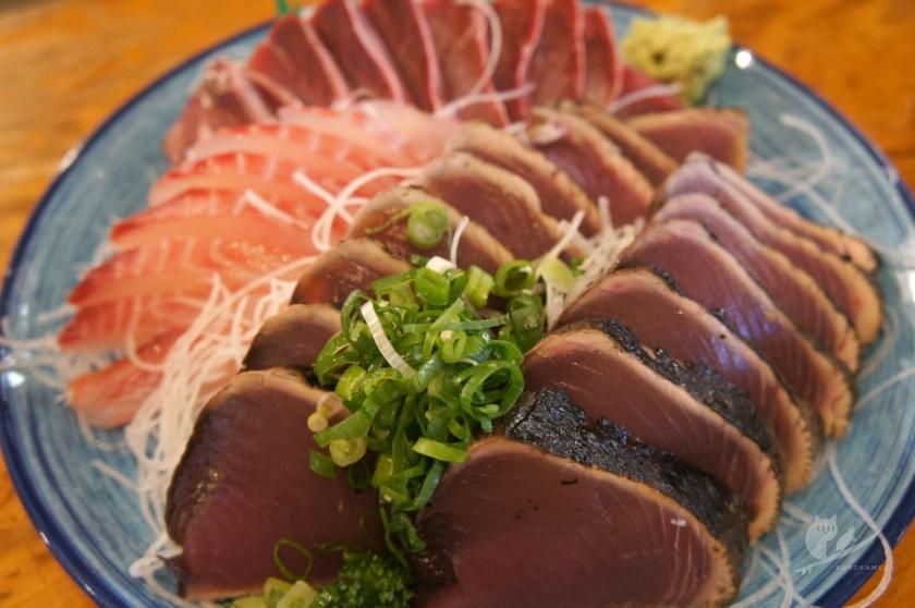 久礼大正市場・田中鮮魚店のカツオとブリ