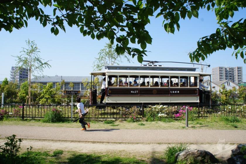 京都・梅小路公園の路面電車