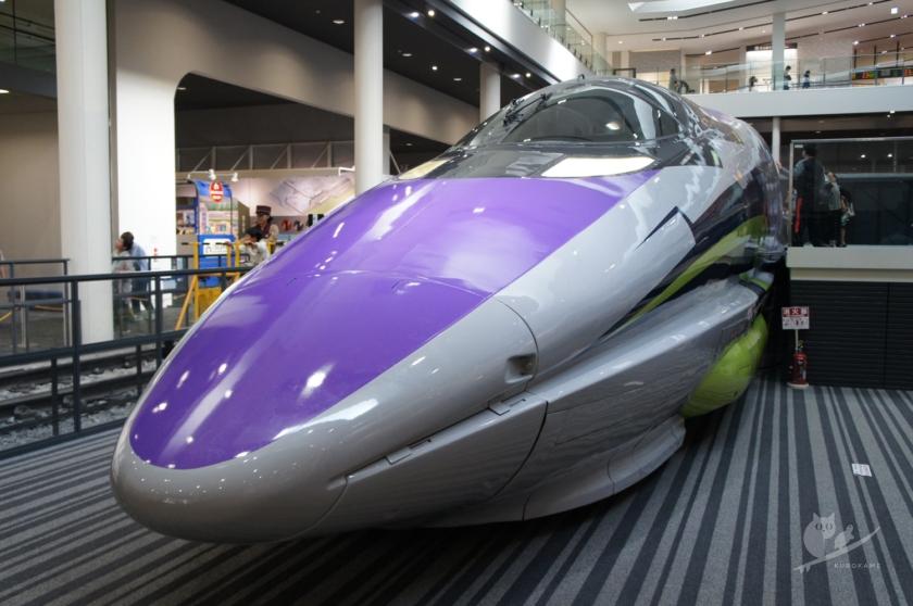 京都鉄道博物館のエヴァ新幹線