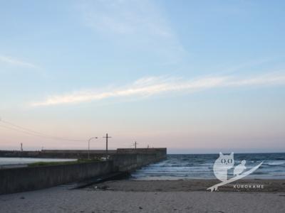 写真:8月10日 鳥取 お盆初日は寝不足二日酔いで灼熱の風波サーフィン