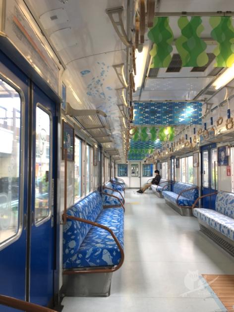 南海加太さかな線観光列車・青いめでたいでんしゃ