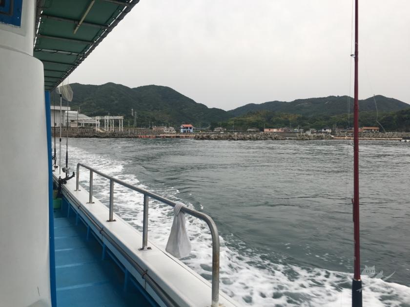 岬町沖へ釣りに出船