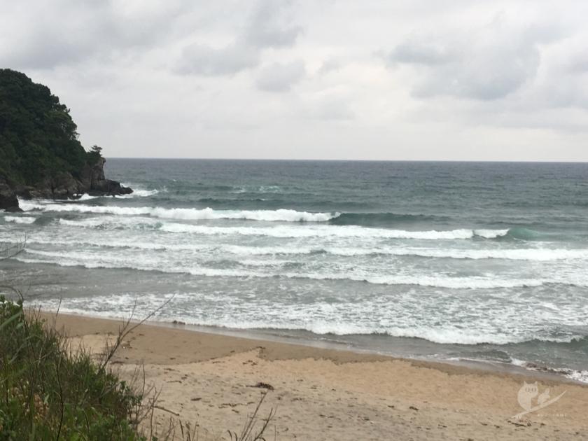 鳥取某所サーフポイントの波