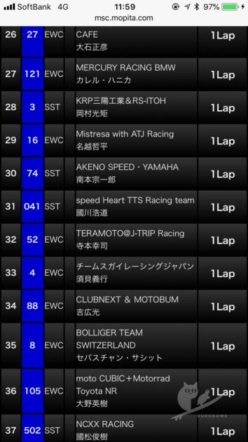 モータースポーツチャンネルの鈴鹿8耐ライブタイミング配信