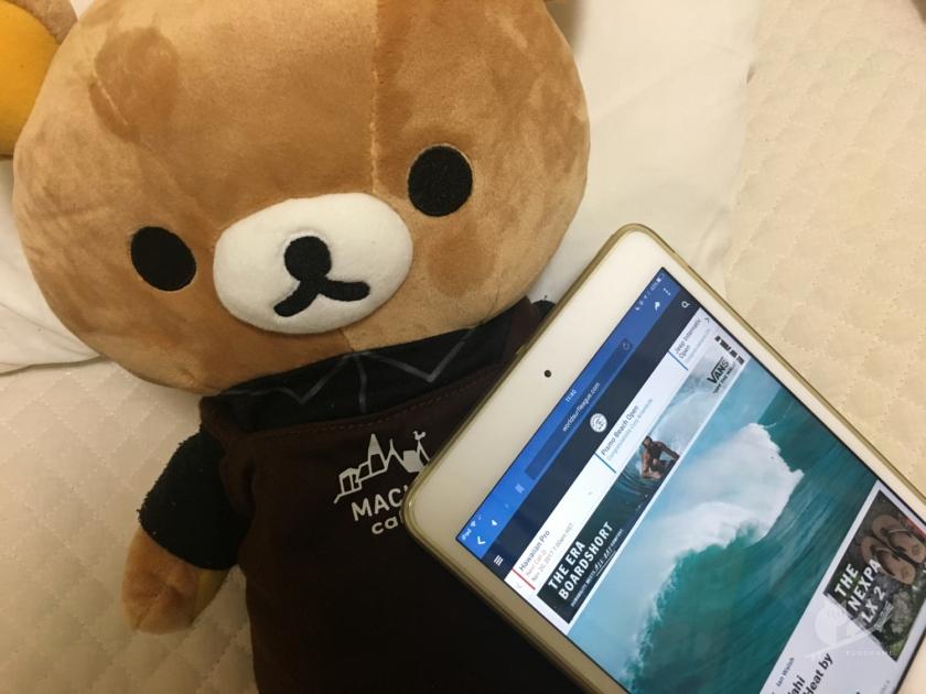 iPadでHawaiian Pro観戦