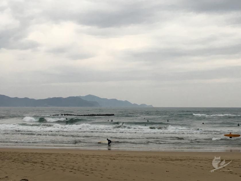 京丹後Hサーフポイントの波