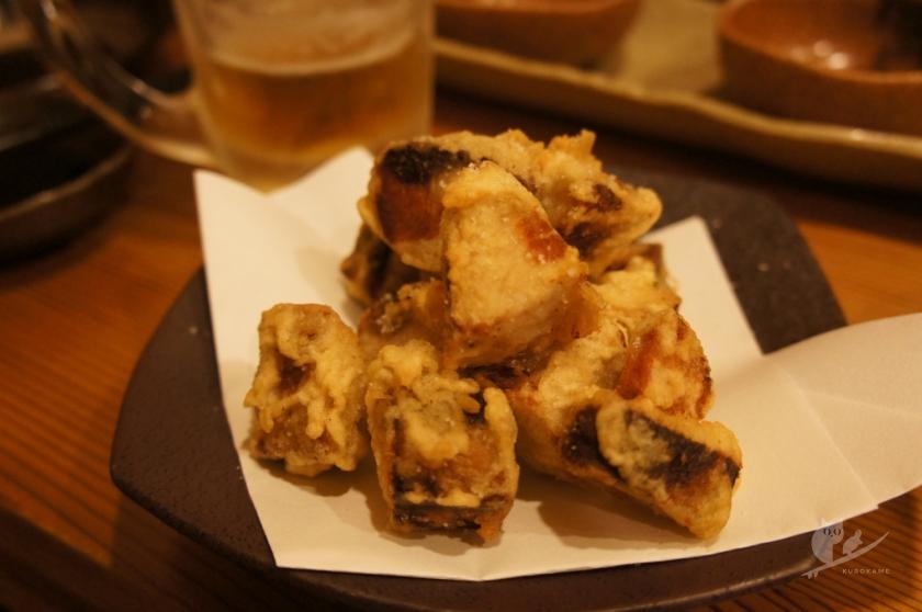 中村の居酒屋ますだやのカツオスモークの天ぷら