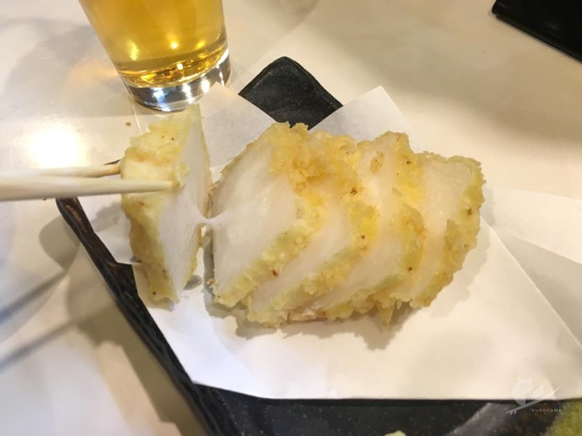 住吉大社前の食処勇で長芋の天ぷら