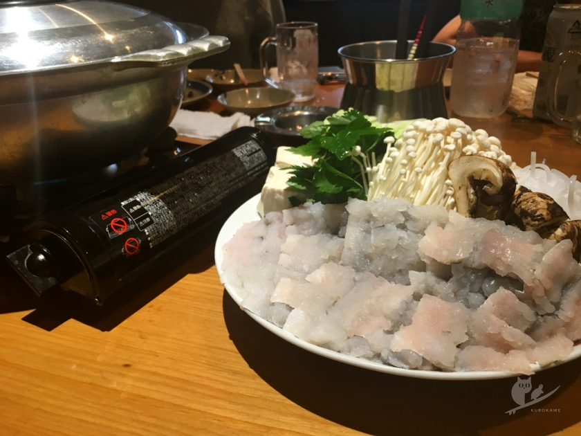 住吉大社・玉水酒店の鱧しゃぶと松茸の鍋