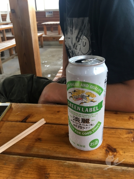 磯子亭でビール