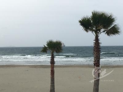 写真:4月某日 磯ノ浦 今年二回目は和歌山暴風電車サーフィン