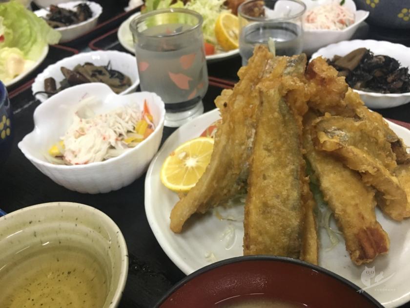 徳島・海部のももや食堂のたちうお天定食