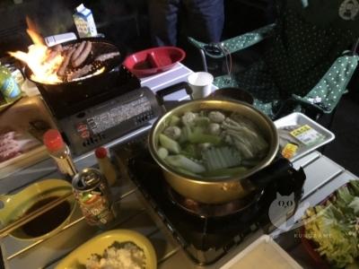 写真:11月10日 丹後 波友と美人サーファーと大混雑と焼肉鍋宴会