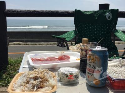 写真:5月4日 静岡 リーフにビックリ御前崎サーフィンとマグロとしらす丼