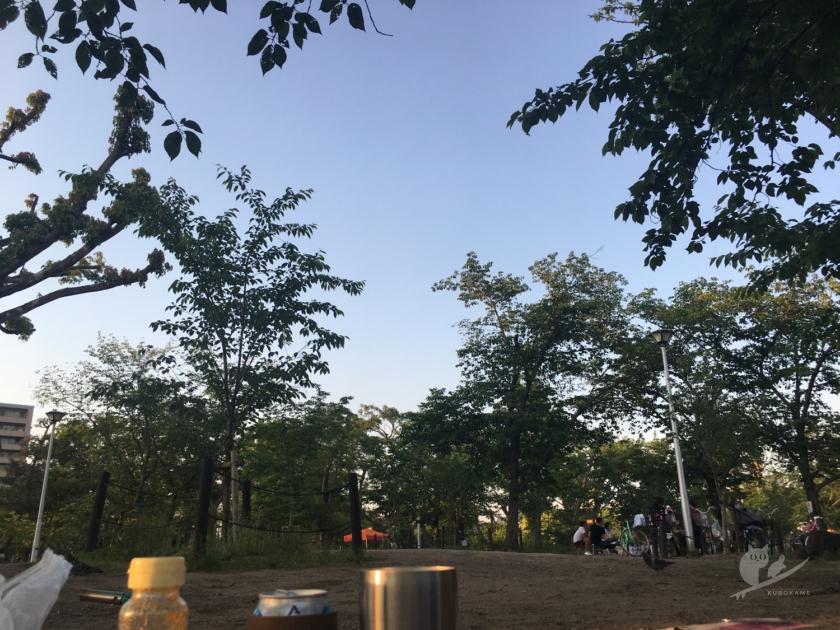 大阪・住吉公園でBBQ