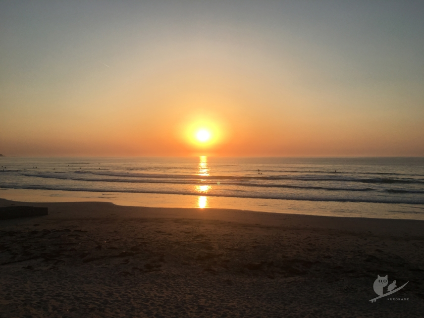 伊勢・市後浜の日の入り
