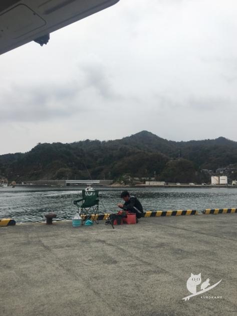 鳥取・田後港で釣り