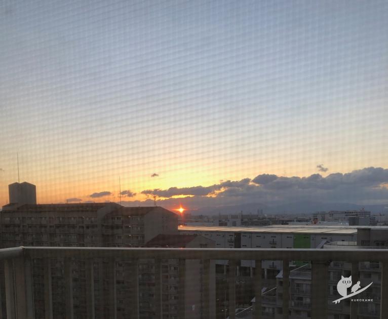 大阪南港の初日の出