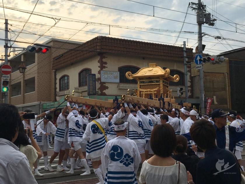 住吉大社の神輿洗神事